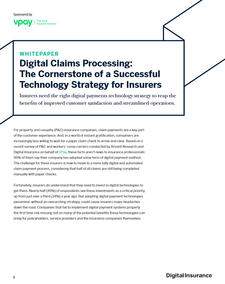 Digital claims processing: The cornerstone of a successful technology strategy for insurers